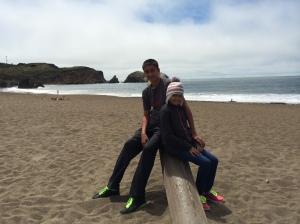 Zak & Naya at the Marin Headlands